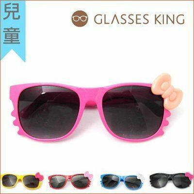 眼鏡王☆現貨!台灣製小孩兒童造型框韓國人氣Hello Kitty蝴蝶結圓點紅色墨鏡太陽眼鏡K3