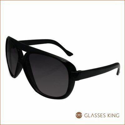 眼鏡王☆小孩款膠框雷朋款正妹韓國復古框兒童太陽眼鏡墨鏡大框帥氣黑色K34