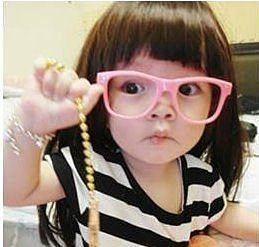 眼鏡王☆現貨!小孩兒童造型框韓國人氣丁小雨糖果色紅色黑色白粉紅綠藍色黃色雷朋鉚釘K2