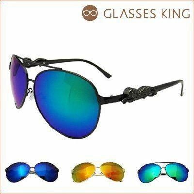 眼鏡王~ ^! 小卡豹雷朋金屬帥氣反光鏡片太陽眼鏡墨鏡水銀炫彩霧黑藍綠色黃色S147