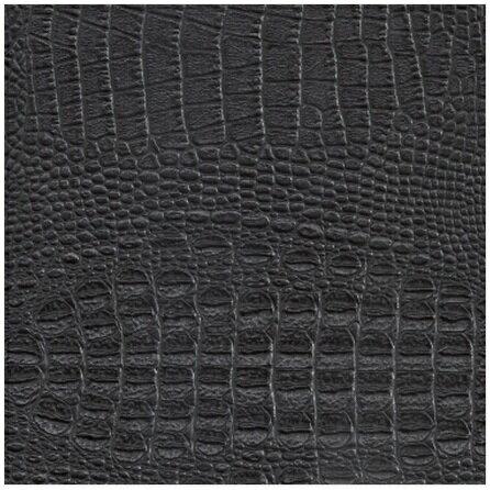 ~鑫韋布莊~HB1790001 黑色鱷魚皮 2尺