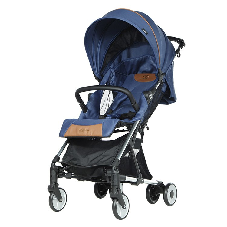 英國【hyBrid】carryon 時尚精品手推車-午夜藍 (贈雨罩、收納袋)-米菲寶貝