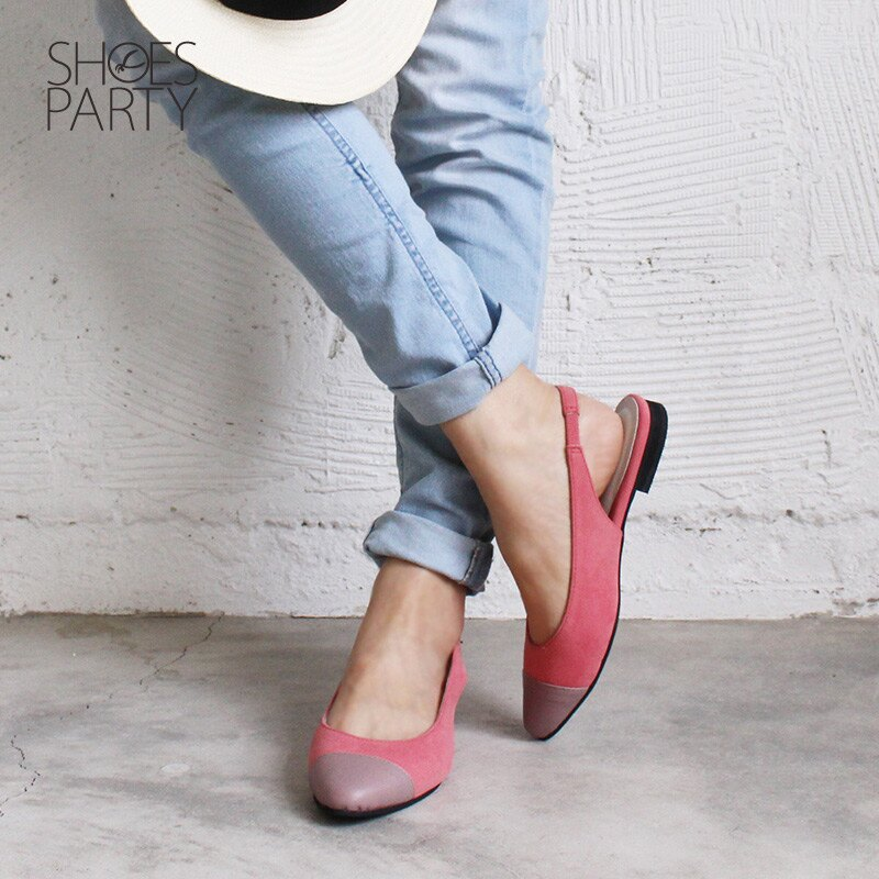 【P2-18329F】春天少女心,異素材拼接尖頭平底鞋_Shoes Party 3