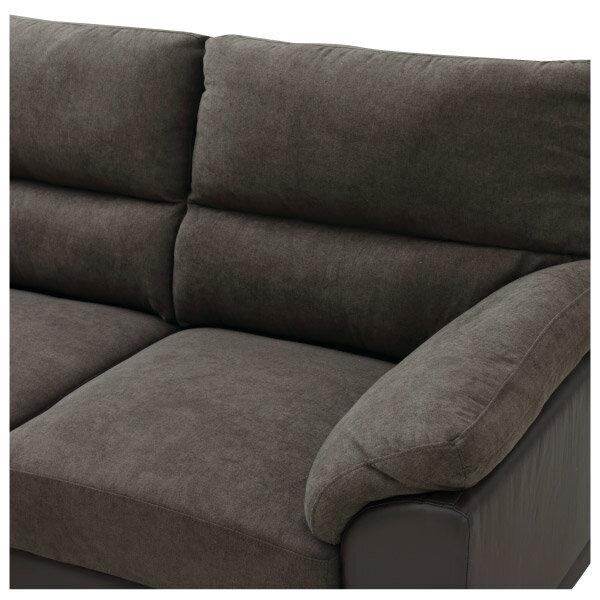 ◎(OUTLET)布質右躺椅L型加大沙發 DOUBLE LINE DBR 福利品 NITORI宜得利家居 5