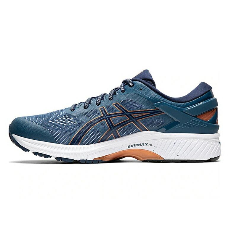 【滿額最高折318】ASICS GEL-KAYANO 26(2E) 男鞋 慢跑 寬楦 緩震 輕巧 穩定 藍【運動世界】1011A542-401