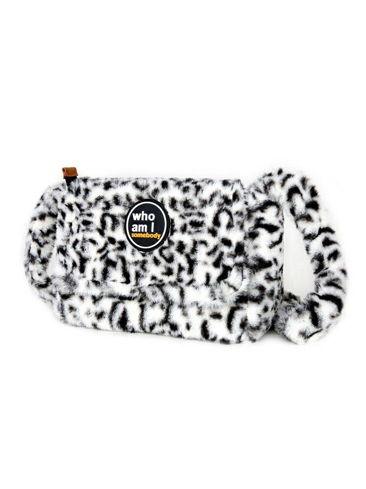 羊羔毛斜背包 包包女2021冬季新款時尚百搭ins羊羔毛絨豹紋單肩斜背包『CM42720』