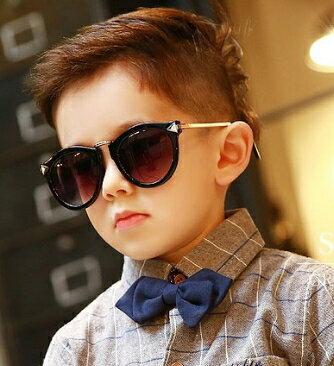 Kocotree◆ 新款時尚豹紋花色磨砂鏡框紫外線護目兒童成人親子款太陽眼鏡-亮黑(兒童/成人款)