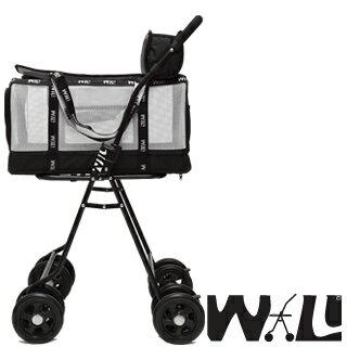 【WILL設計 + 寵物用品】雙層萬搭可拆式推車+WB03極透氣抗夏黑網#簡約白