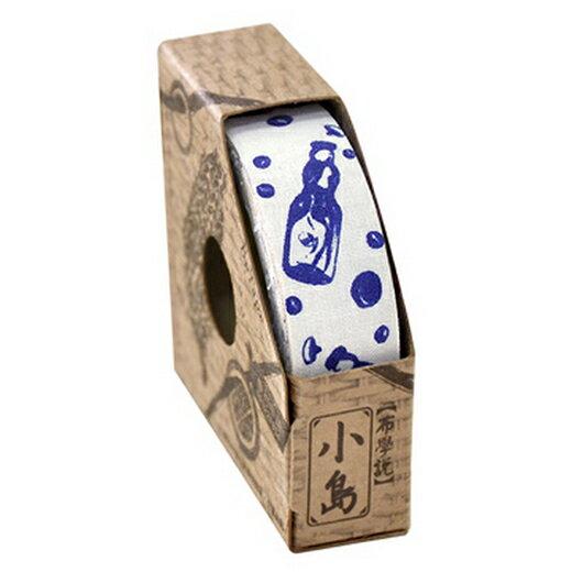 【布學無數】青花瓷系列布膠帶 (1入)( 白底彈珠汽水 )生活/創意商品