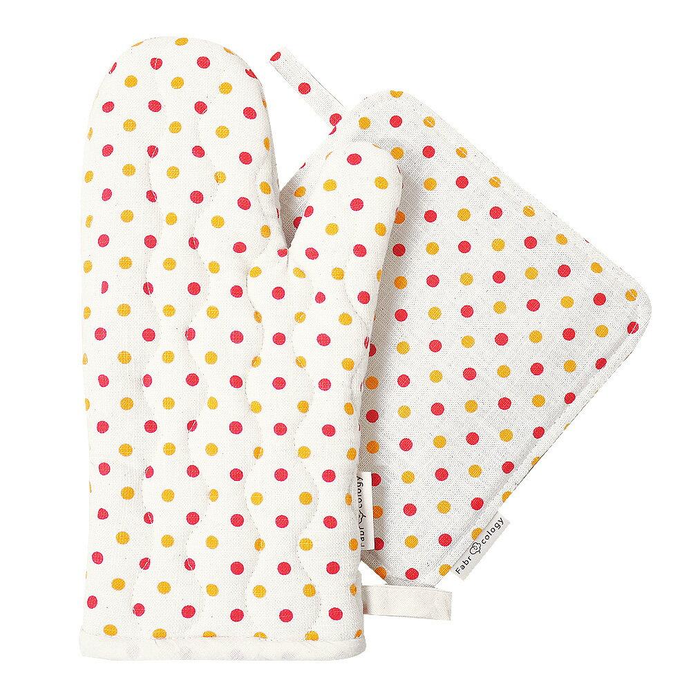 【布學無數】雙色水玉紋隔熱墊+手套 (組合價) 居家/廚房用品 0