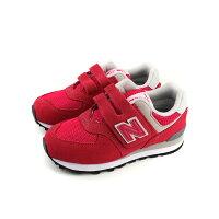 New Balance 美國慢跑鞋/跑步鞋推薦New Balance 574系列 運動鞋 魔鬼氈 紅色 麂皮 童鞋 寬楦 YV574EPJ-W no510