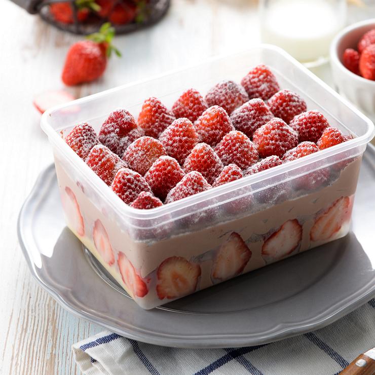 超 美食  辦公室最愛  盒子蛋糕  草莓爆多~惡魔~便當  下午茶  600克左右