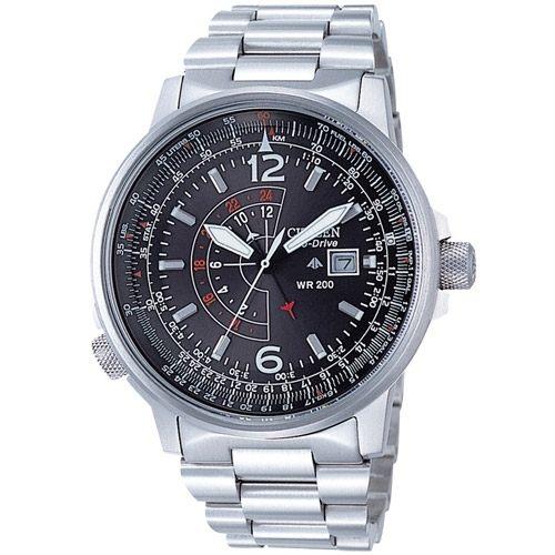 CITIZEN 航行天際飛行光動能不鏽鋼錶 BJ7010-59E