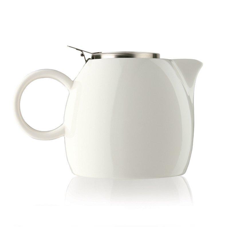 Tea Forte 普格陶瓷茶壺 - 白瓷 Orchid White  送 罐裝茶(隨機出貨) 0