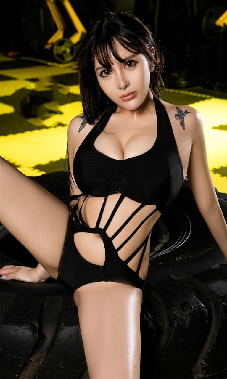 新款情趣內衣 性感誘惑開襠露乳深V情趣內衣連身比基尼泳裝 L1108