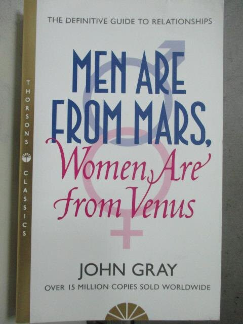 ~書寶 書T3/原文小說_HCM~Men Are from Mars Women Are