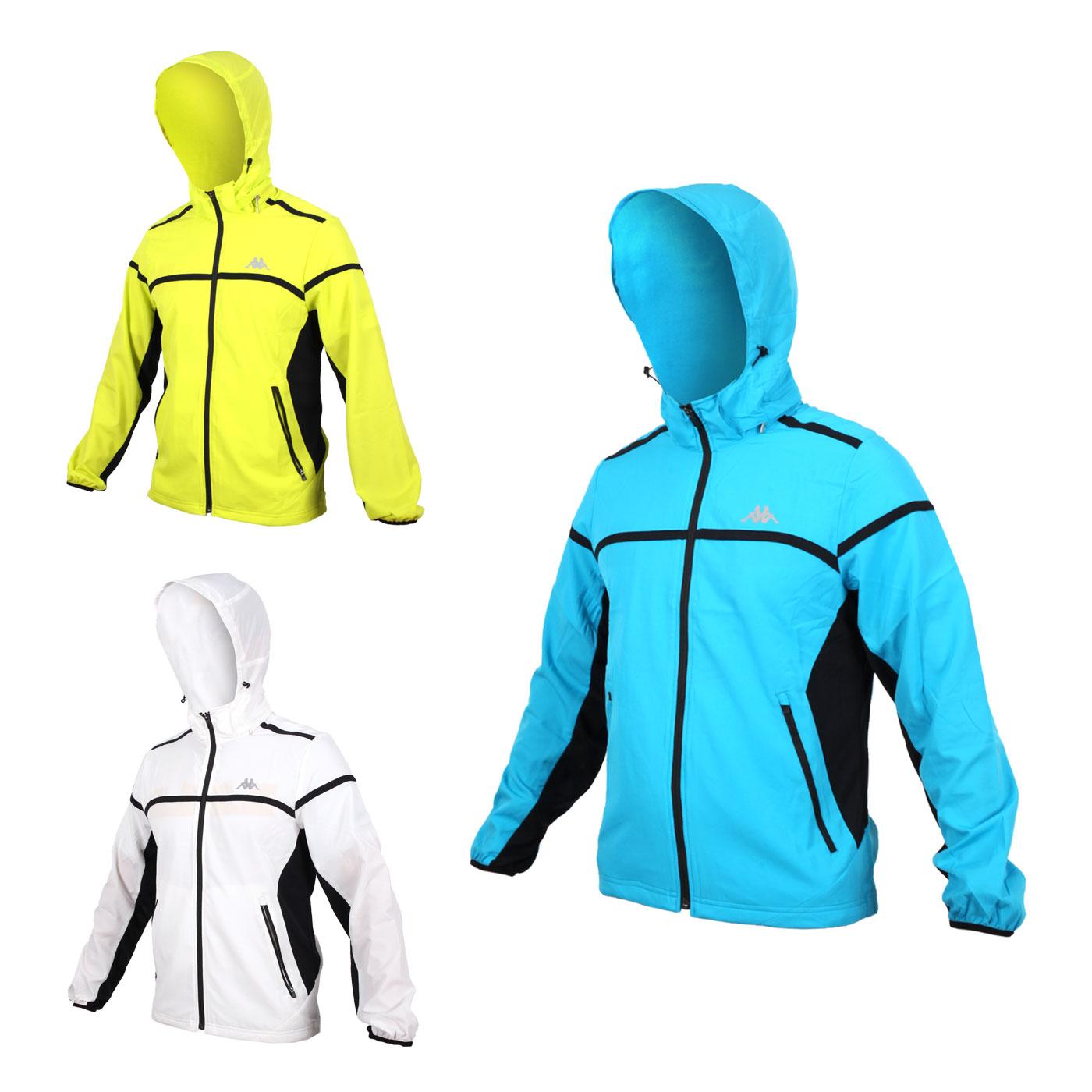 KAPPA 男單層風衣外套 (防風 立領 連帽外套 路跑 慢跑【03330667】≡排汗專家≡