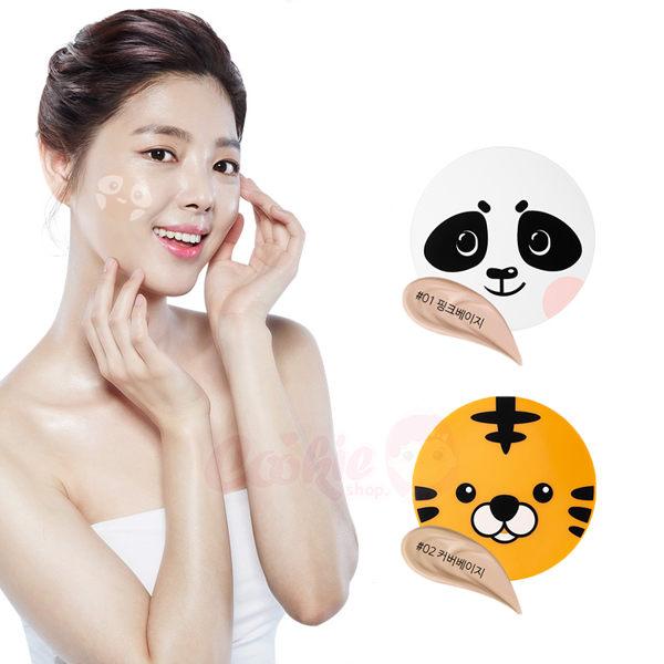 韓國SNP動物氣墊遮瑕保濕熊貓老虎(12g)【庫奇小舖】