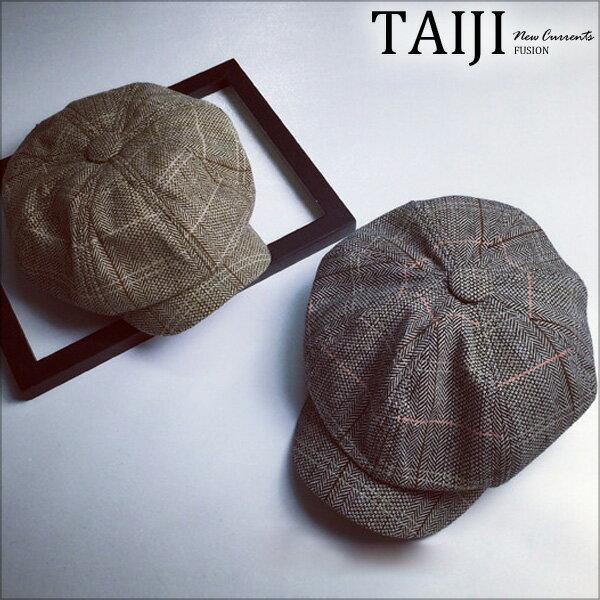 畫家帽‧中性款復古格紋棉質畫家帽‧二色【NXHA80】-TAIJI-