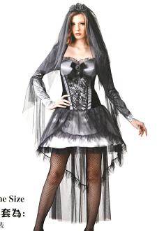 X射線【W380156】鬼新娘,死神/巫婆/尾牙/萬聖/聖誕/大人變裝/cosplay/表演/攝影/寫真/吸血鬼/話劇/冥婚