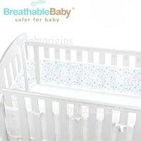 【淘氣寶寶】英國【BreathableBaby】透氣嬰兒床圍 全包型 (18434滿天星藍款) 0