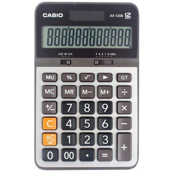 【CASIO】【公司貨附保卡】卡西歐 AX-120B 12位元 商用型計算機 黑灰色