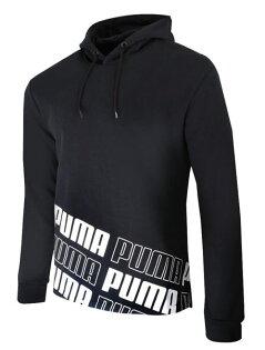 PUMA男裝上衣長袖連帽休閒舒適基本款黑【運動世界】59477601