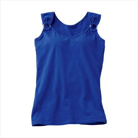 空運nissen ~女裝~肩膀圓環裝飾附罩杯背心~典雅藍色