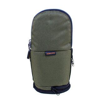 【KOKUYO】 critz多功能直立式筆袋-大(橄藍綠) PC009-K