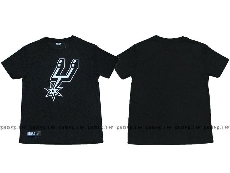 《限時5折》Shoestw【8630236-020】NBA 排汗T恤 聖安東尼奧 馬刺隊 透氣布 快速排汗 黑色