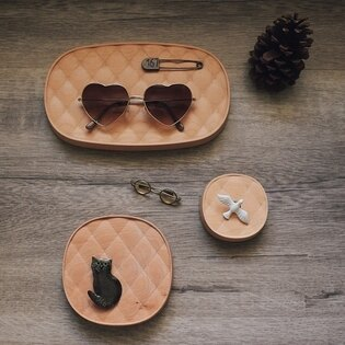 經典菱格-飾品收納盤