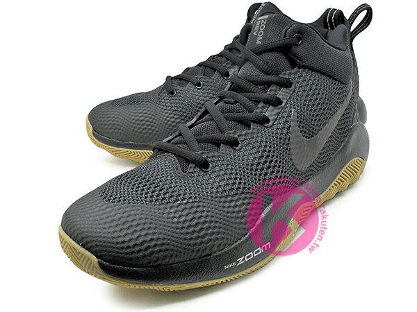 2016 中價位籃球鞋款 NIKE ZOOM REV EP 全黑 膠底 HYPERFUSE 鞋面科技 + ZOOM AIR 氣墊 XDR 耐磨橡膠外底 輕量化 籃球鞋 (852423-010) 0117 1