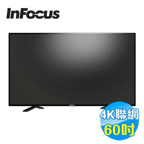 【滿3千,15%點數回饋(1%=1元)】鴻海 INFOCUS 60吋 4KUHD連網液晶顯示器 FT-60CA601 【送標準安裝】