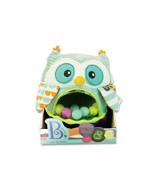 【淘氣寶寶】 美國 B.Toys 感統玩具 貓頭鷹布倒翁