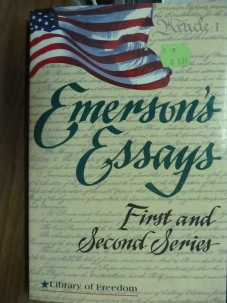 ~書寶 書T7/原文書_PDQ~Emerson #x27 s Essays_Ralph W