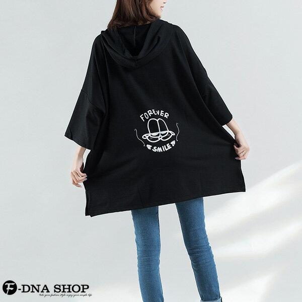 胖MM加大尺碼★F-DNA★YEP前後印圖側口袋連帽五分袖T恤(2色-大碼F)【EG22050】 2
