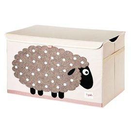 【淘氣寶寶】加拿大 3 Sprouts 大型玩具收納箱-綿羊【超大容量造型玩具箱,可摺疊收納,加蓋防塵】【保證公司貨】
