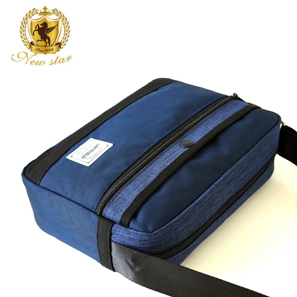 側背包 時尚拼接防水前口袋斜背包包 NEW STAR BL135 4