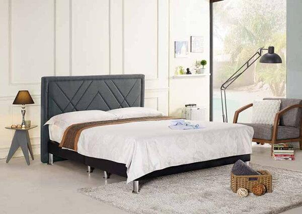 【尚品傢俱】CM-161-4查爾5尺雙人床(深灰布,另有六尺)
