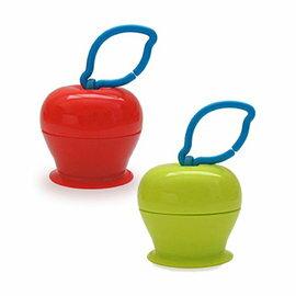 【淘氣寶寶】美國 Grapple 矽膠創意小物 三爪玩具俏吸盤-紅蘋果+青蘋果 超值2入組【媽媽包必備,終結你丟我撿】