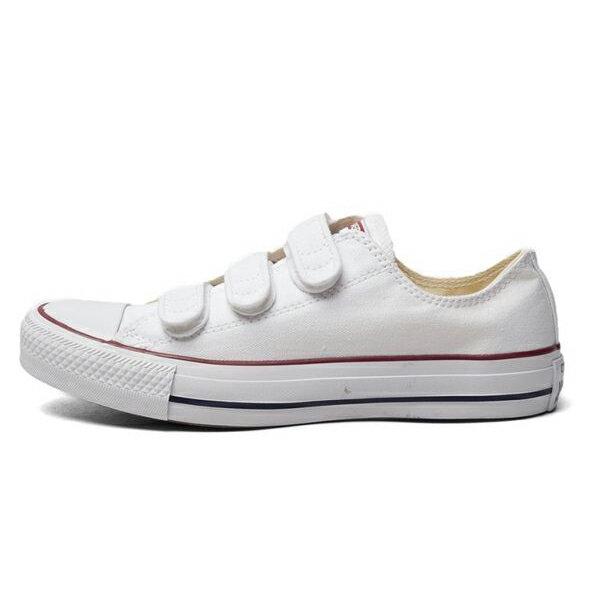 CONVERSE Chuck Taylor All Star V3 男鞋 女鞋 休閒 帆布 低筒 復古 魔鬼氈 白【運動世界】 105042