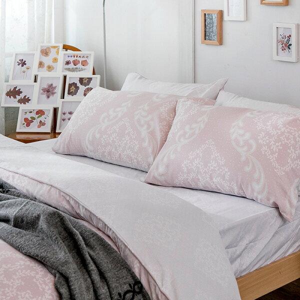 戀家小舖:床包兩用被套組雙人【寧靜洛可可】科技天絲,含兩件枕套,戀家小舖
