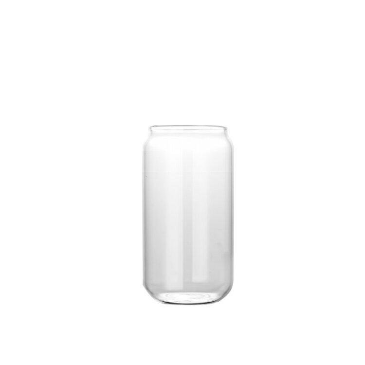 KAYEN可樂杯附彎耐熱玻璃吸管400ml
