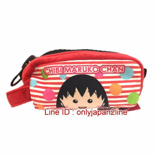 【真愛日本】17010300003大拉鍊筆袋化妝包-小丸子紅 櫻桃小丸子  鉛筆袋 收納袋