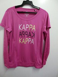 【登瑞體育】KAPPA女生長袖假兩件T恤-FA56F0549