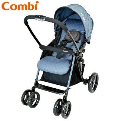 Combi Mega Ride 雙向全躺型嬰幼兒手推車-典雅藍