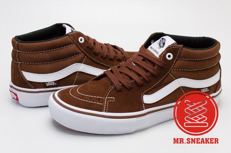 ☆Mr.Sneaker☆ VANS Sk8-Hi Pro 基本 專業 滑板鞋 休閒 高筒 卡布奇諾 棕 男段