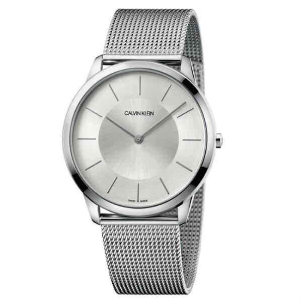 CKCalvinklein卡文克萊Minimal系列(K3M2T126)時尚米蘭腕錶白面43mm
