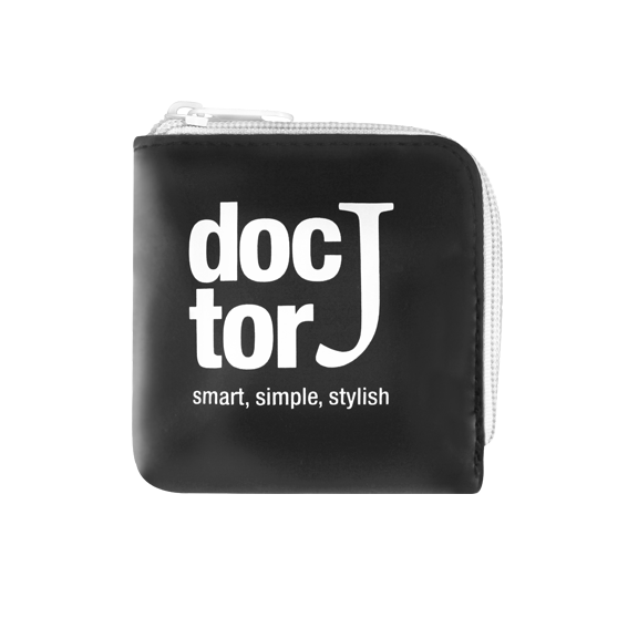 DoctorJ 方型零錢包 白