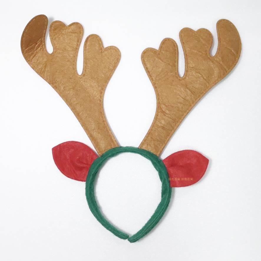 【塔克】聖誕節 耶誕節 鹿角髮圈 鹿角髮夾 麋鹿髮箍 麋鹿 麋鹿角(棕色) 帶耳麋鹿 髮箍 頭飾
